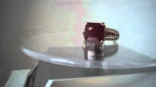 видео Кольца золотые с рубинами
