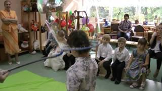"""Шоу мыльных пузырей в детском саду """"Жемчужинка"""""""