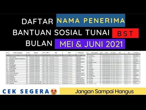 Daftar nama Penerima BST Mei dan Juni 2021, jangan sampai hangus (Cek segera)