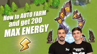 How to Auto Fąrm and Get 200 Max Energy!