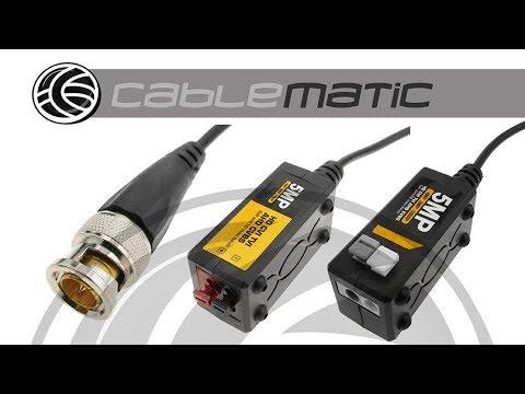 Video Balun Pasivo HD 5MP Compatible CVI/TVI/AHD/CVBS - Distribuido Por CABLEMATIC ®