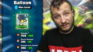 BALLOON 13 LEVEL! LECIMY PO TOP! CLASH ROYALE POLSKA