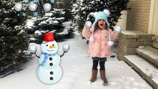 Sally Playing in the Snow!! family fun vlogs