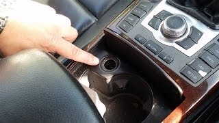 Where is the fuse for cigarette lighter socket on Audi A6 (C6 4F), right hand drive, saloon.