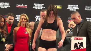 Katie Taylor vs Eva Wahlstrom WEIGH IN