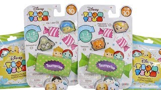 Disney Tsum Tsum Series 10 Vinyl Figure 3 Packs and Bling Bags Unboxing Toy Review