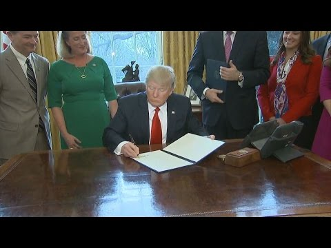 Trump Signs Executive Orders on Financial Regulation