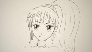 Cómo dibujar un rostro manga femenino fácilmente - Arte Divierte.