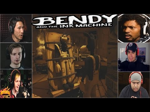 Gamers Reactions to Boris Finding Dead Boris | Bendy and The Ink Machine - Chapter 3