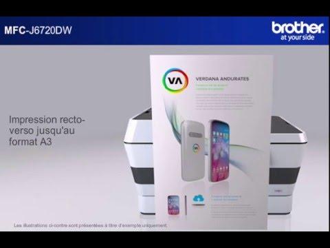 imprimante multifonction jet d encre couleur a3 professionnelle mfc j6720dw youtube. Black Bedroom Furniture Sets. Home Design Ideas