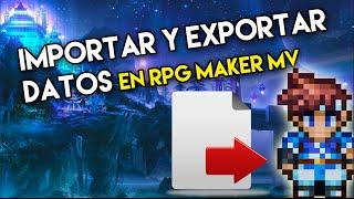 Tutorial RPG maker MV | como importar y exportar imágenes y sonidos