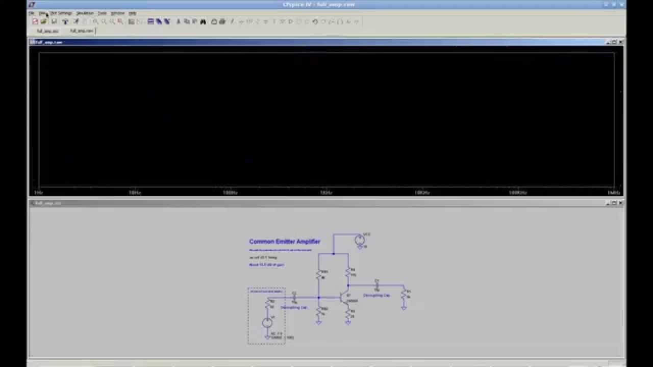 Circuitlab Bjt Amplifier Common Emitter