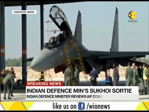 Indian Defense minister's Sukhoi Sortie