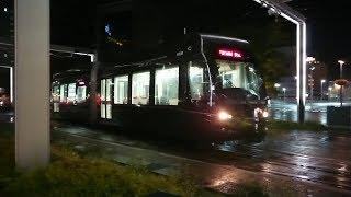 富山地方鉄道 9000形9003号『CENTRAM』富山駅前にて