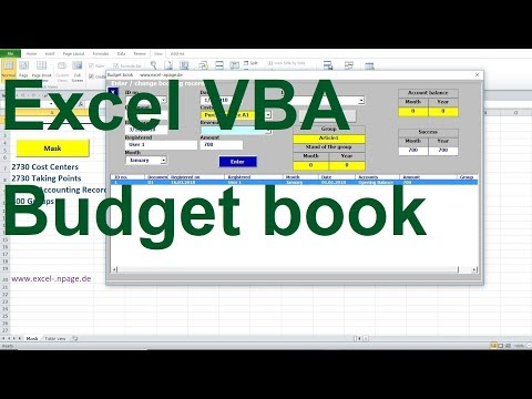 Budget book revenue surplus with success groups in Excel VBA