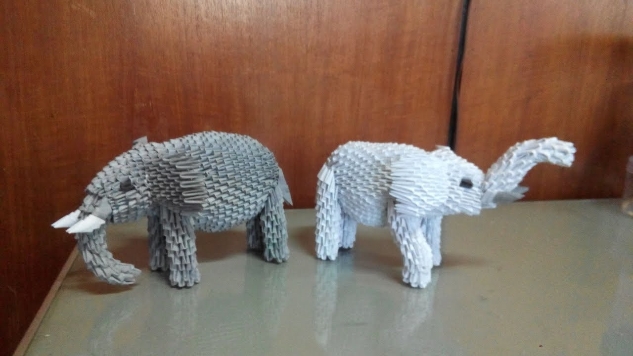 Origami Elephant - Tutorial OLD VERSION - How to make an origami ... | 720x1280