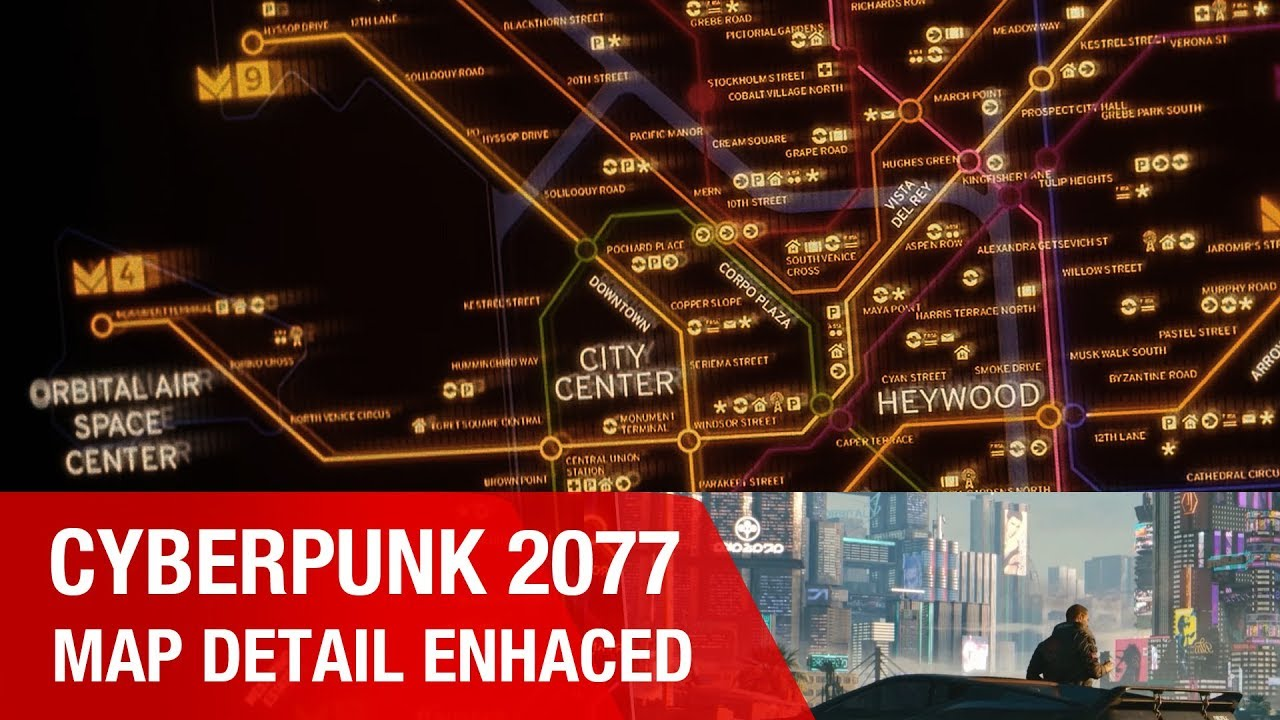 Cyberpunk 2077 Subway Map.Cyberpunk 2077 Night City Metro Map Enhanced