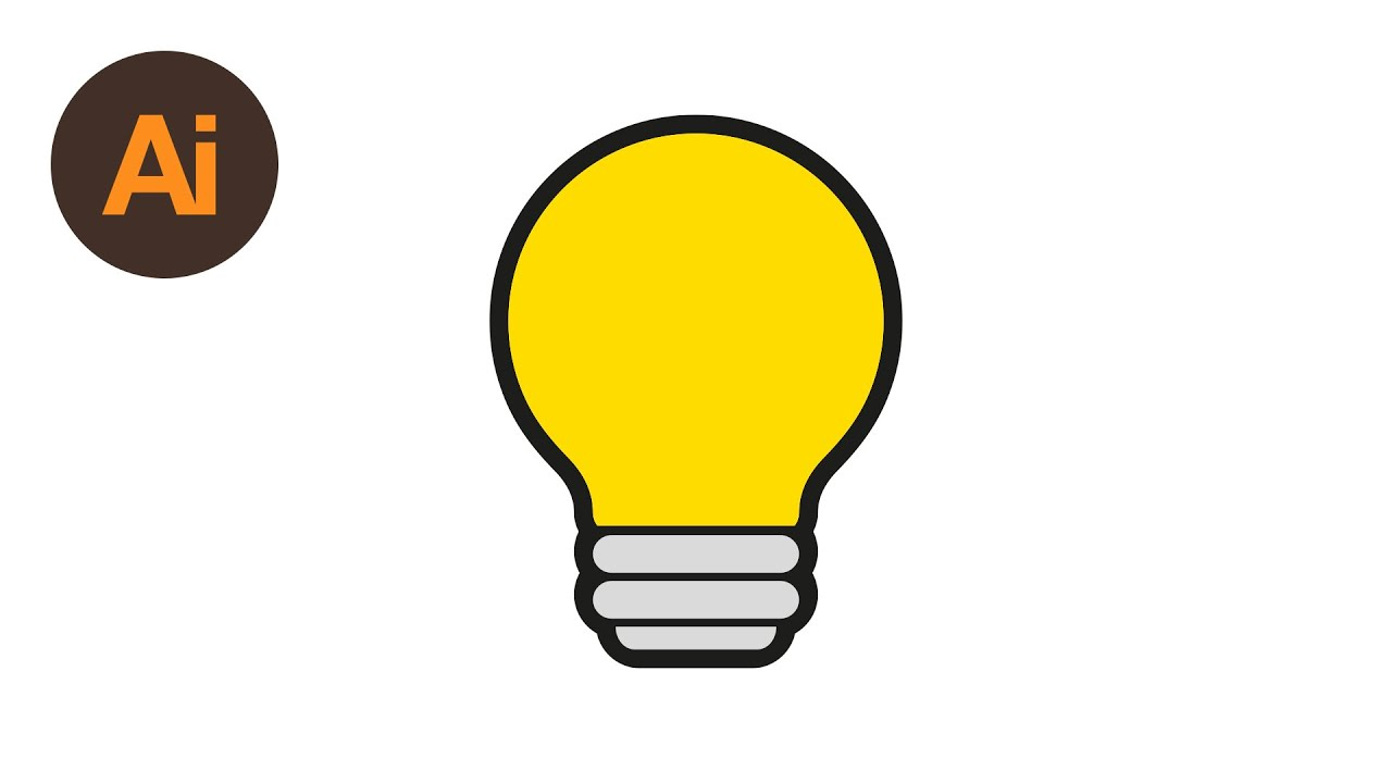 Learn How To Draw A Lightbulb Symbol In Adobe Illustrator Dansky