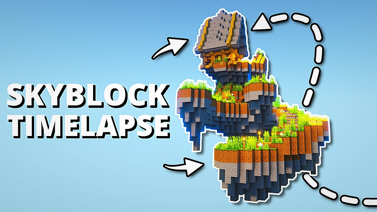 Minecraft SkyBlock Island: Timelapse