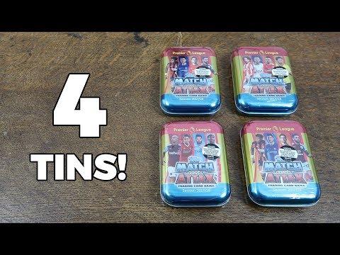 4x MINI TIN OPENING! Match Attax 2017/18