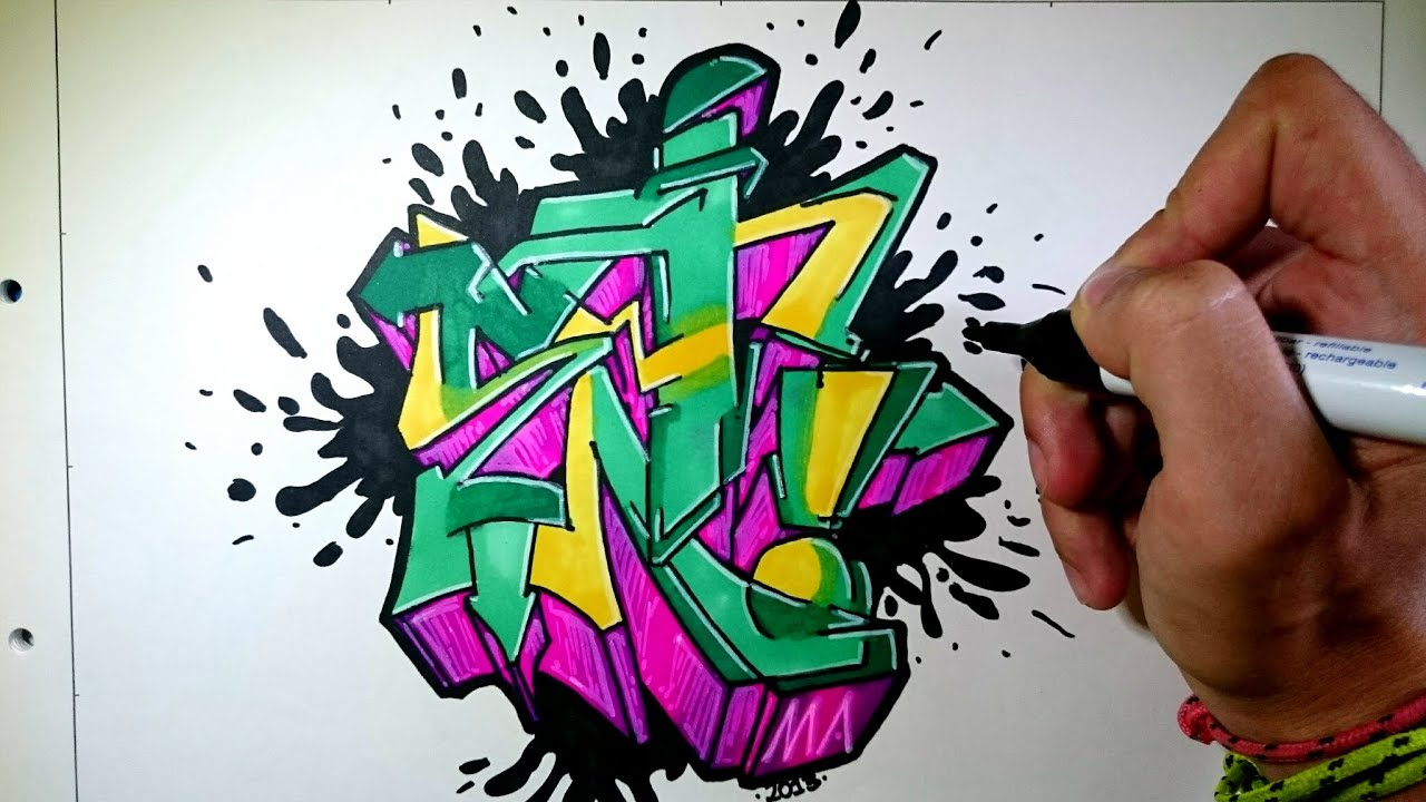 Drawing Graffiti Effects Paper .t