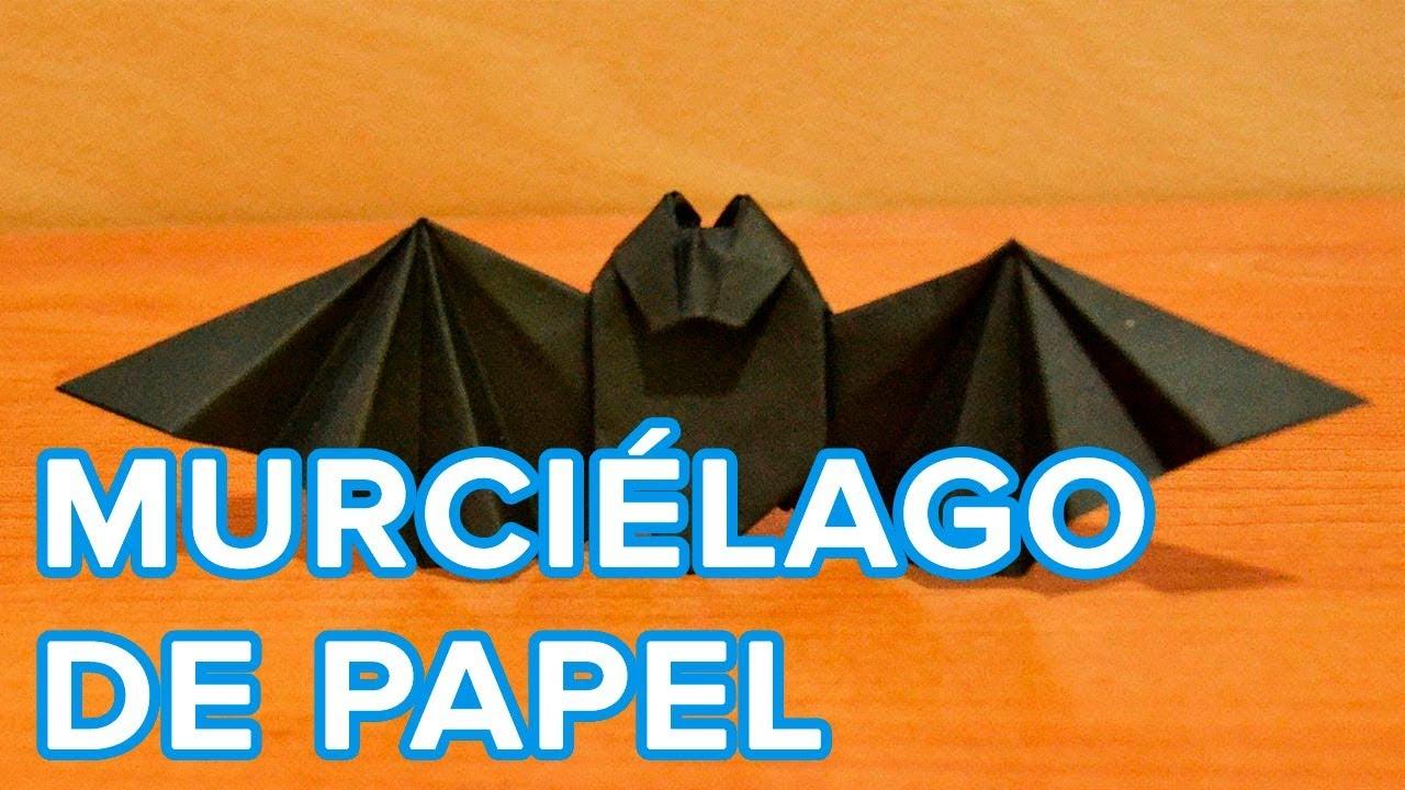 C mo hacer un murci lago de papel youtube - Como hacer cosas de papel paso a paso faciles ...
