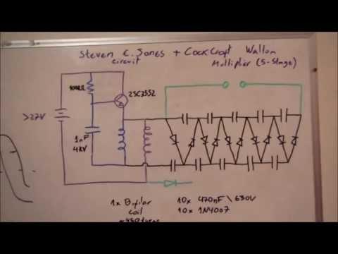 Steven E. Jones Circuit + CockCroft Walton Multiplier = High Voltage DC