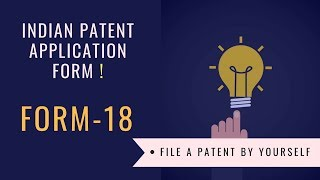 Indian Patent Application form | Form 18 |  Request for Examination of Application for Patent