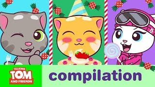 HAPPY HOLIDAYS – Talking Tom and Friends Minis Cartoon Compilation (21 Minutes)