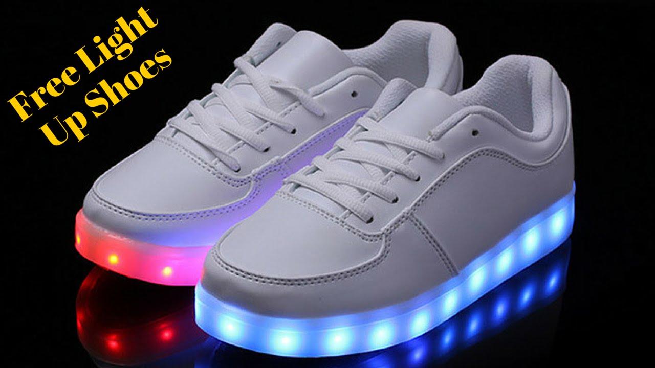 LED Light Up Game Shoes - YouTube