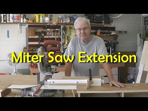 Building a Miter Saw Extension Table