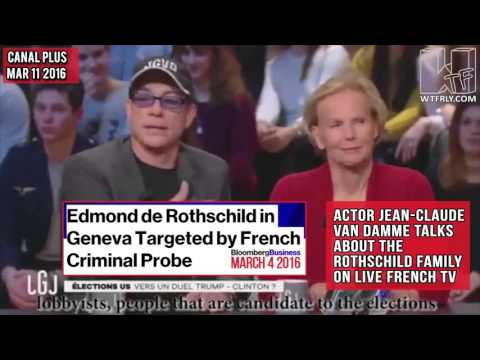 Actor Jean Claude Van Damme talks about the Rothschild family on French TV