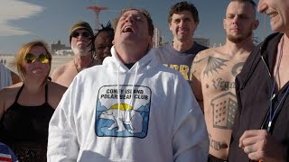 Jeremy Roenick does the Polar Bear Plunge