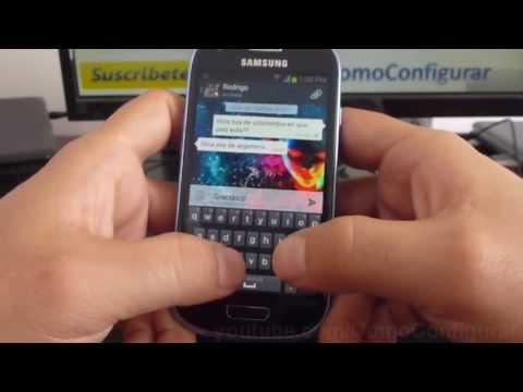 como agregar contactos a whatsapp de argentina en samsung Galaxy S3 mini i8190 español Full HD