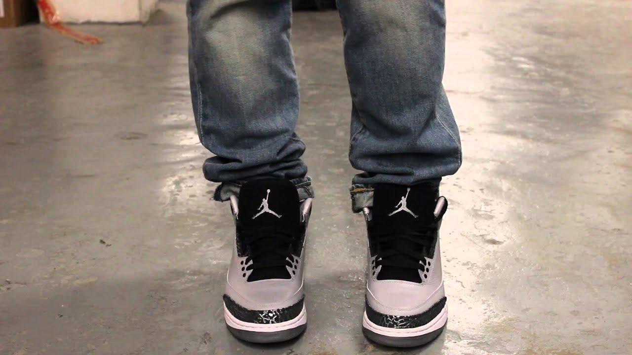 Air Jordan 3 Retro Lobo Gris En Los Pies sneakernews en venta para la venta nicekicks en venta tienda de liquidación YZnQGESMT
