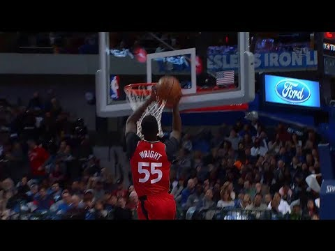 Raptors Highlights: Wright Steal and Slam - December 26, 2017