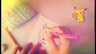 ♥How To Draw Cute Axolotl♥