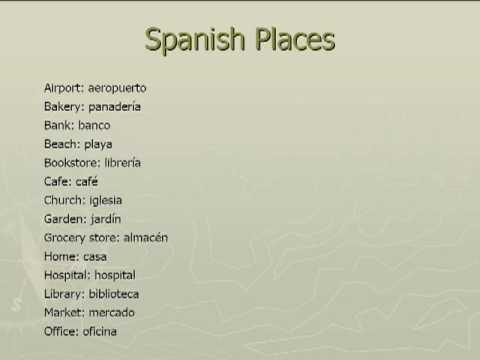 places spanish vocabulary