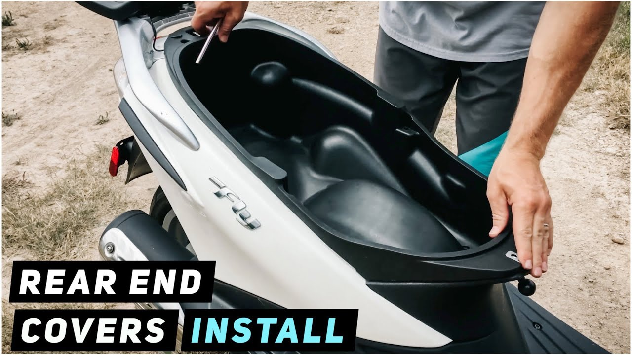 2013+ piaggio fly - rear end covers installation - youtube