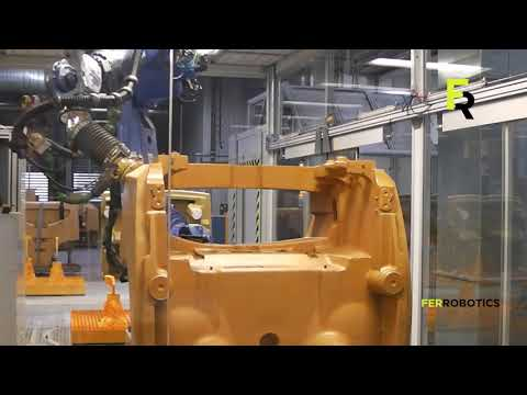 Forklift truck robotic sanding – FerRobotics fullfills Jungheinrich quality level