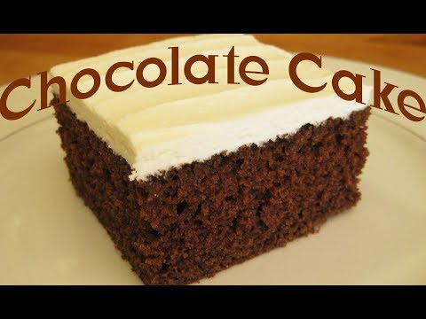 Chocolate Cake Recipe and Mint Buttercream Frosting Tutorial