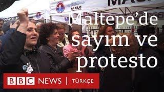 Maltepe'de son durum: Oy sayımı ve protestolar
