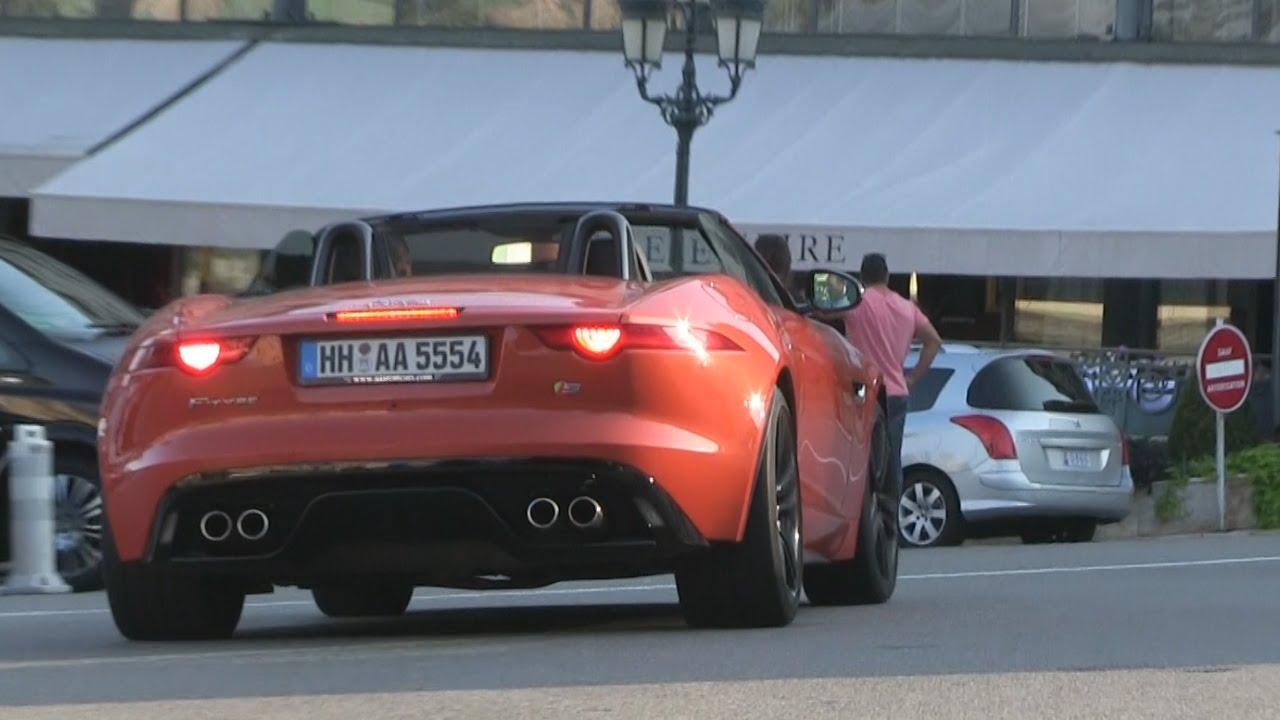 Orange Jaguar F Type In Monaco   Rental Car From AAA Luxury Cannes