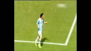 Goal Lionel Messi argentina vs Brazil 2-1