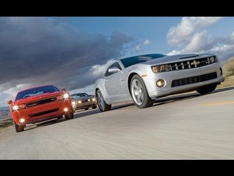 2010 Chevy Camaro Ss Vs 2010 Ford Mustang Gt 2009 Dodge Challenger R T Car And Driver