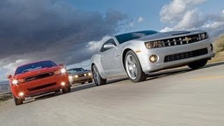 2010 Chevy Camaro SS vs. 2010 Ford Mustang GT, 2009 Dodge Challenger R/T - CAR and DRIVER