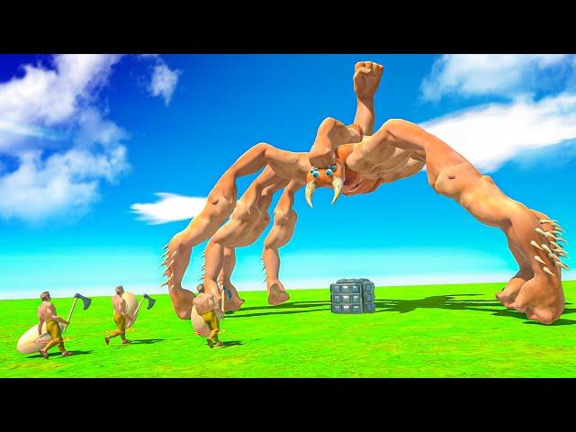 New FIST SPIDER Unit Fully Destroys Humans! - Animal Battle Revolt Simulator