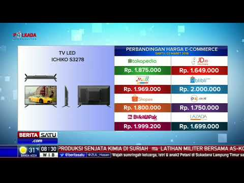 Perbandingan Harga E-Commerce: TV Led Ichiko S3278