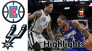 Clippers vs Spurs HIGHLIGHTS Full Game | NBA March 24