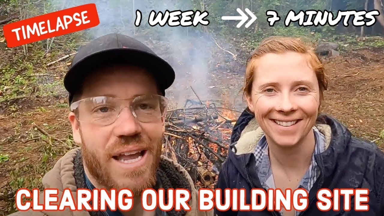 TIMELAPSE   Couple Clears Building Site In 1 WEEK